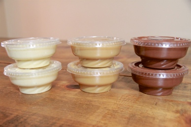 Vanilla, Butterscotch, and Chocolate Puddings packaged