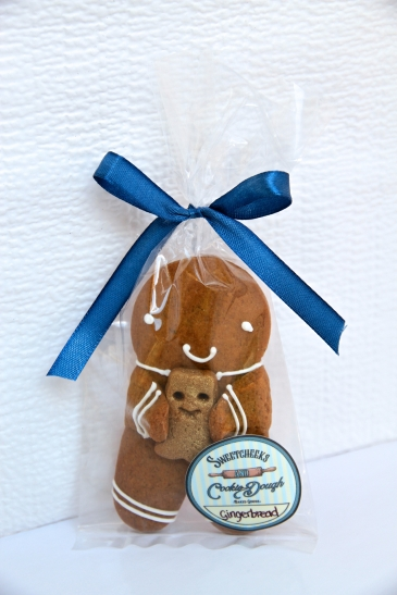 Gingerbread Child with Teddy Bear