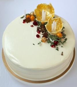 Carrot Cake with Honey-Orange Cream Cheese Frosting